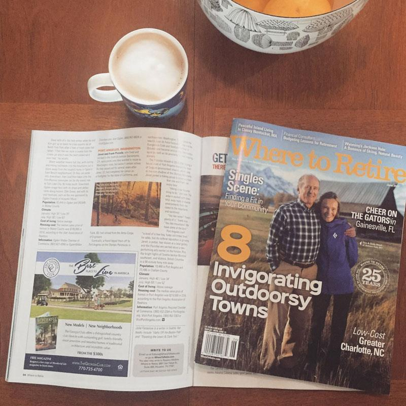 Where to Retire magazine names Port Angeles top 8 invigorating outdoorsy towns