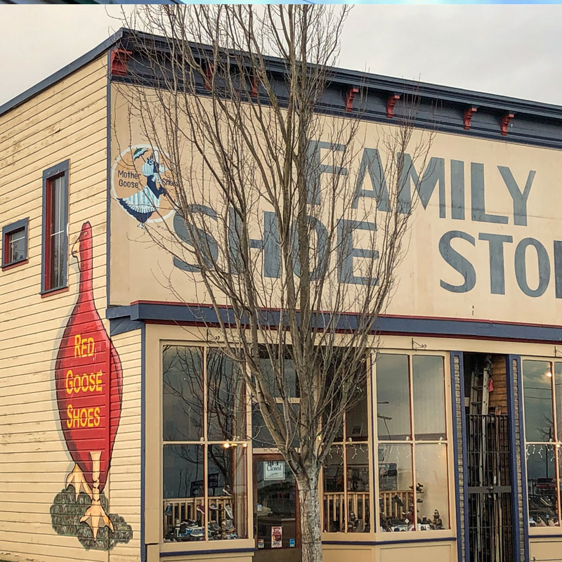 Family Shoe Store Art Mural in Port Angeles, WA