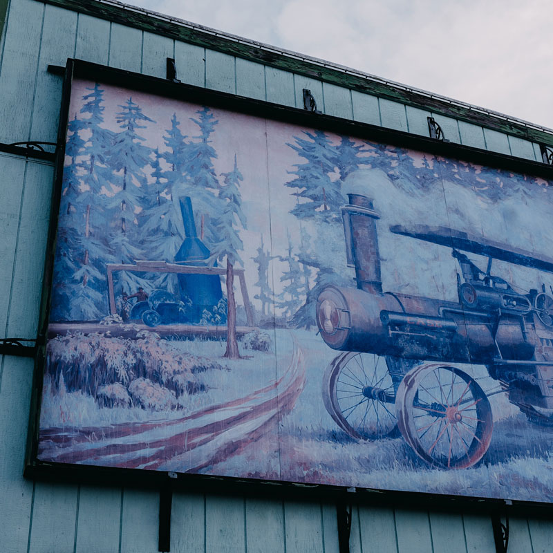 Logging Art Mural in Port Angeles, WA