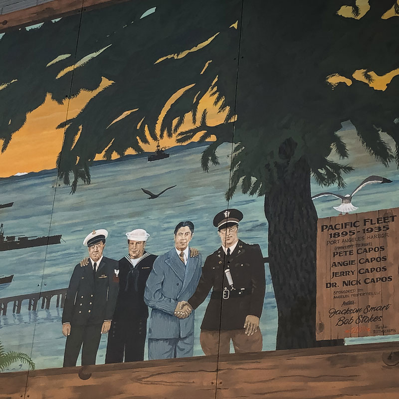 Pacific Fleet Art Mural in Port Angeles, WA