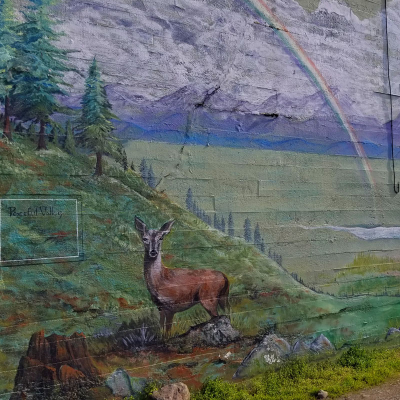 The Peaceful Valley Art Mural in Port Angeles, WA