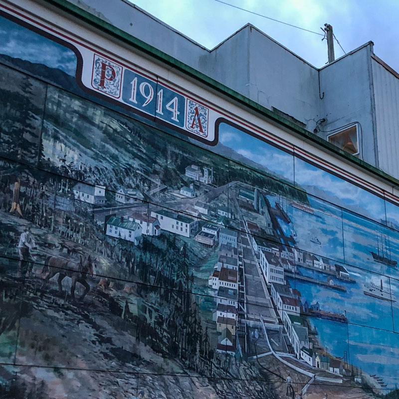 Sluicing the Hogback Art Mural in Port Angeles, WA