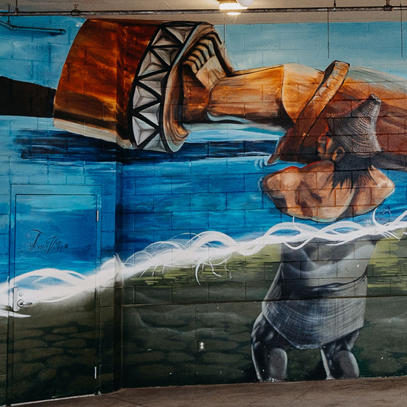 Strong People Art Mural in Port Angeles, WA