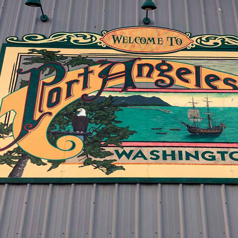 Welcome to Port Angeles Art Mural in Port Angeles, WA
